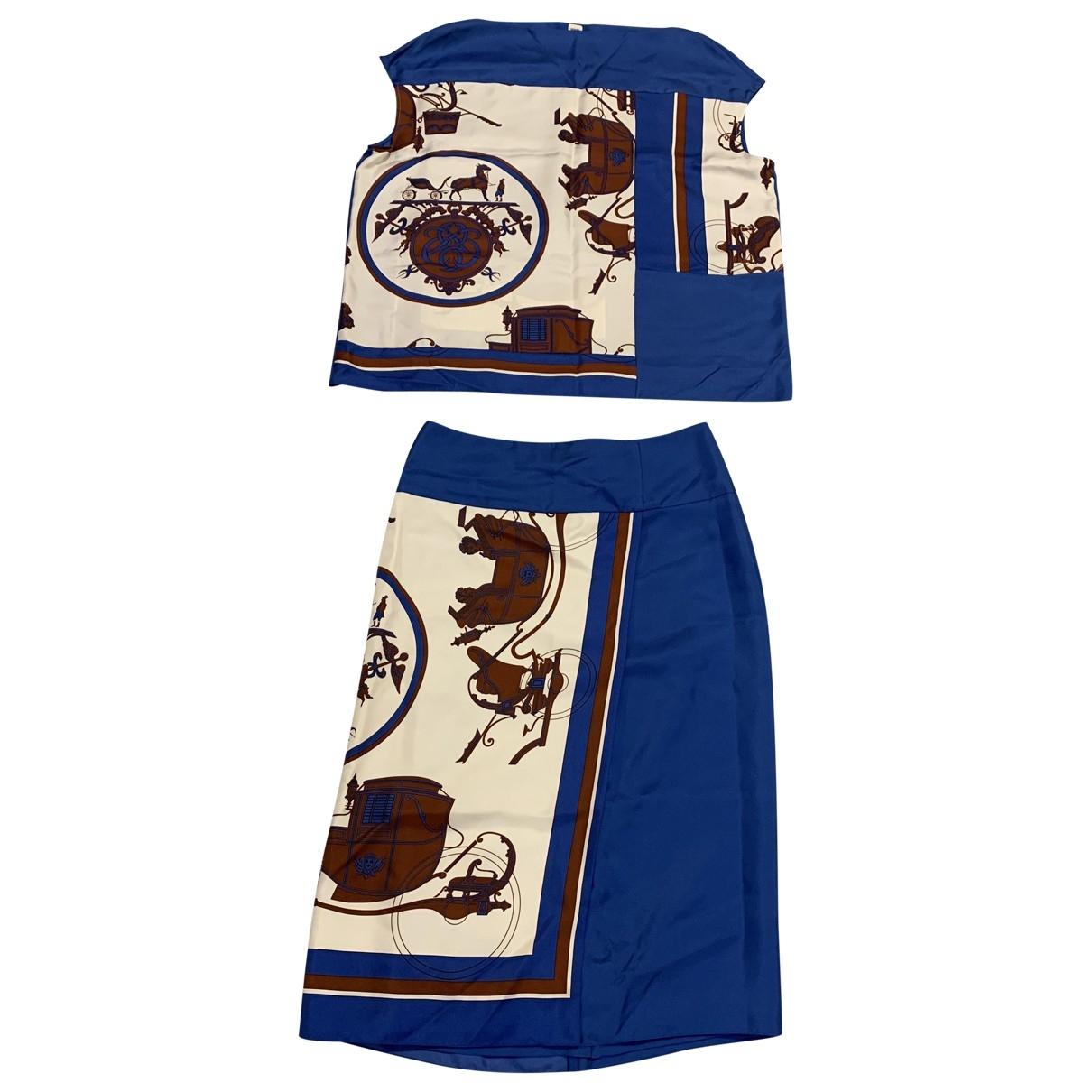Hermes \N Kleid in  Blau Seide