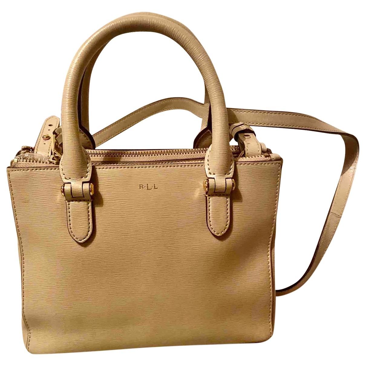 Lauren Ralph Lauren \N Beige Leather handbag for Women \N