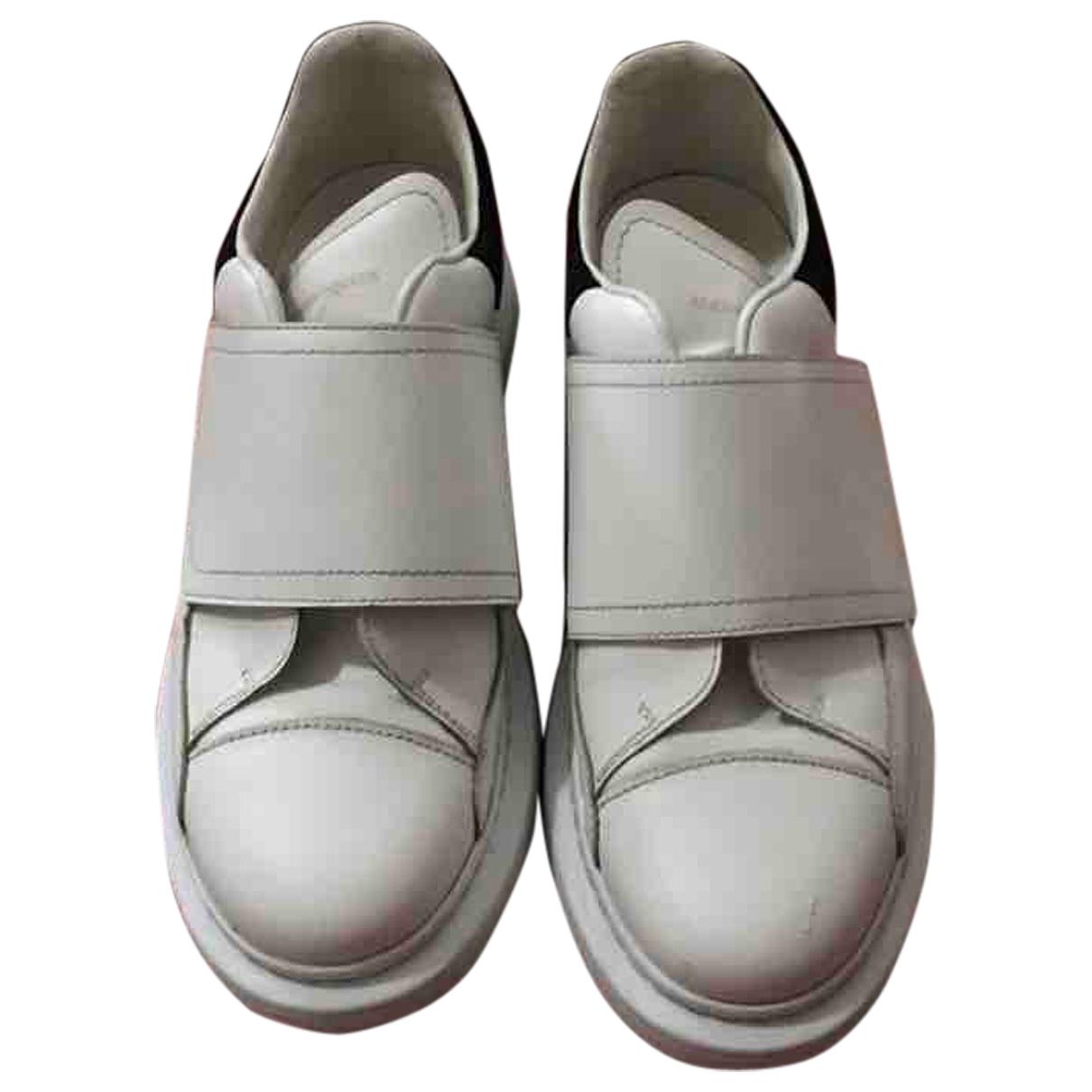 Alexander Mcqueen - Baskets   pour femme en cuir - blanc