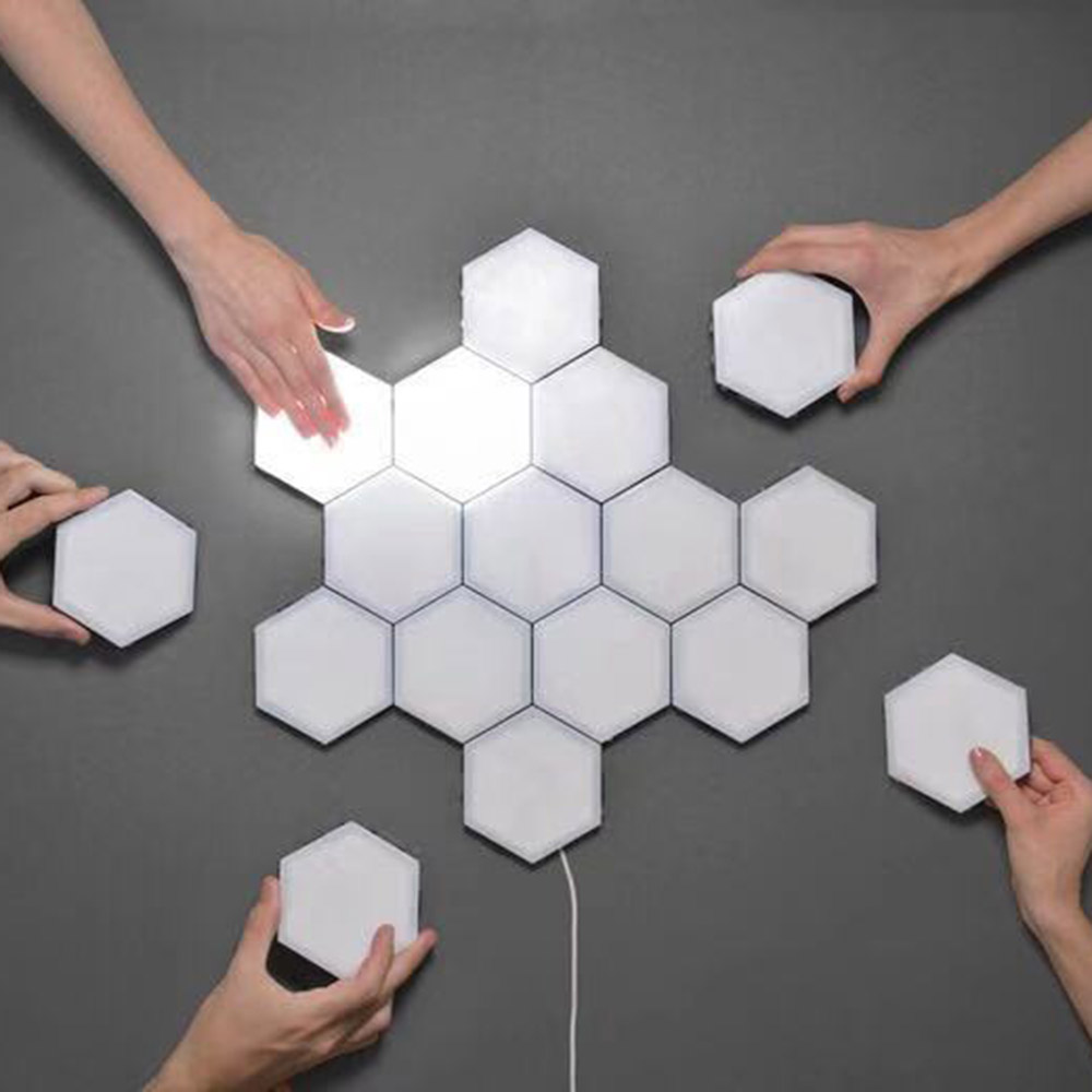 Splicing Lamp Honeycomb Lamp Assemble Hexagonal Combination Background Wall Lamp Touch Induction Lamp LED Quantum Lamp