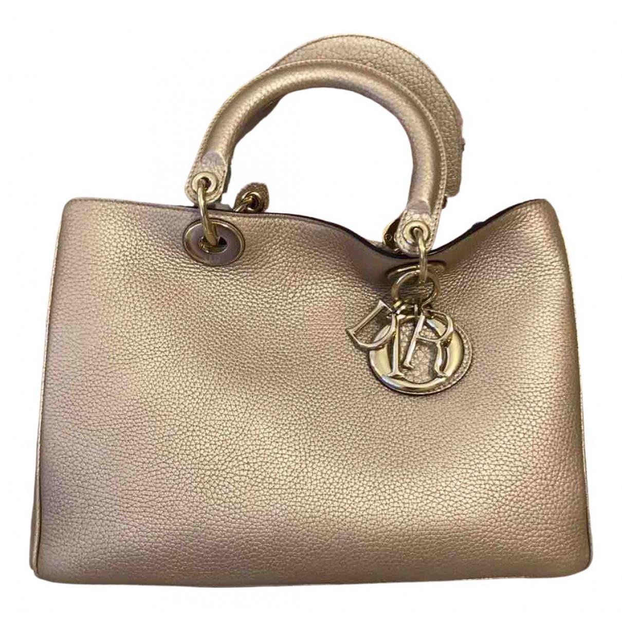 Dior Diorissimo Gold Leather handbag for Women N