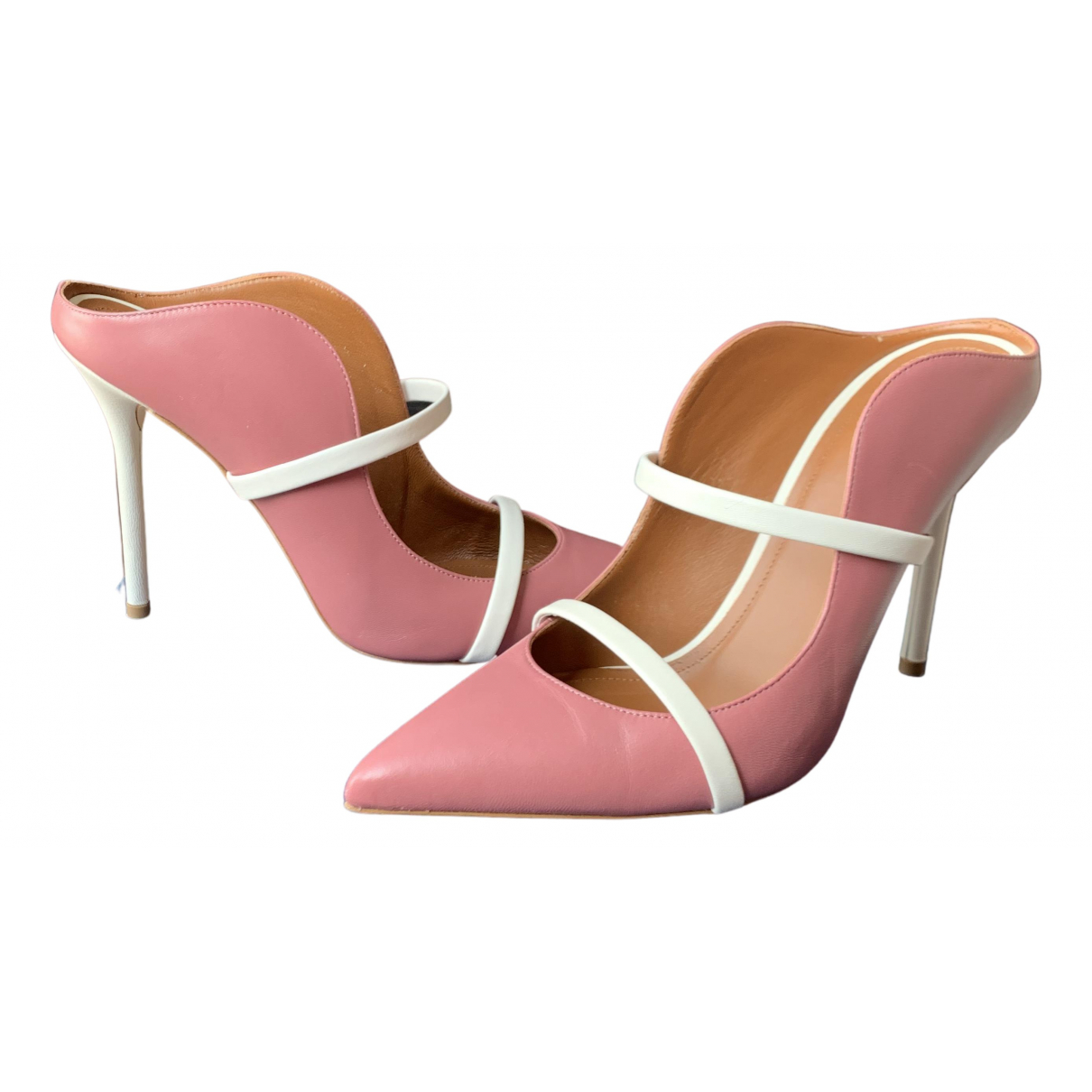 Malone Souliers Maureen Beige Leather Mules & Clogs for Women 5 UK