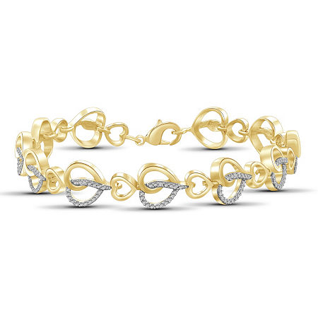 14K Gold Over Brass 8 Inch Solid Round Link Bracelet, One Size , No Color Family