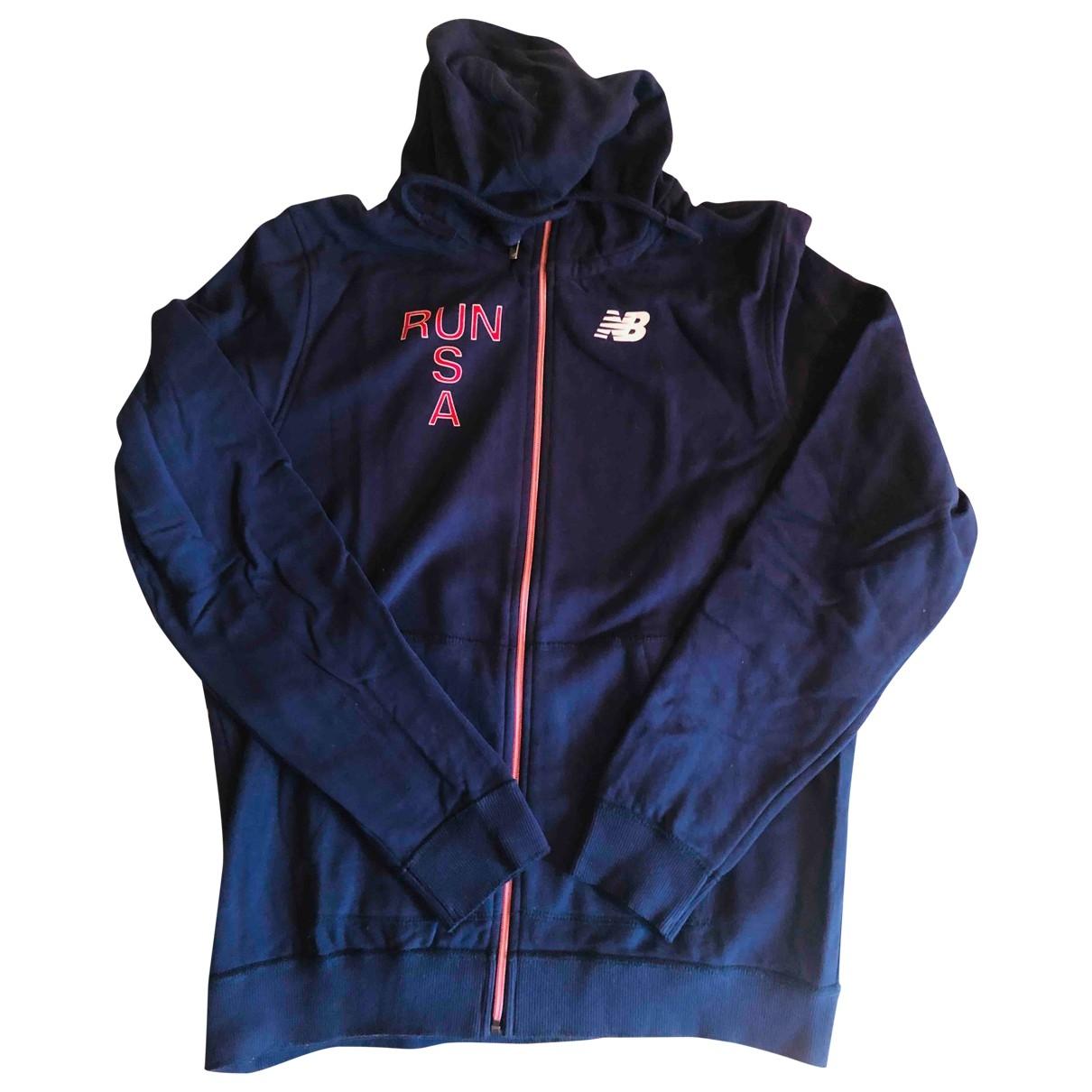 New Balance \N Pullover.Westen.Sweatshirts  in  Blau Baumwolle
