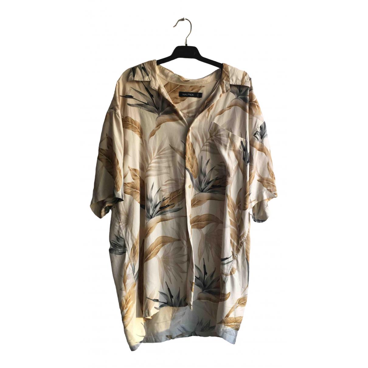 - Chemises   pour homme en soie - beige