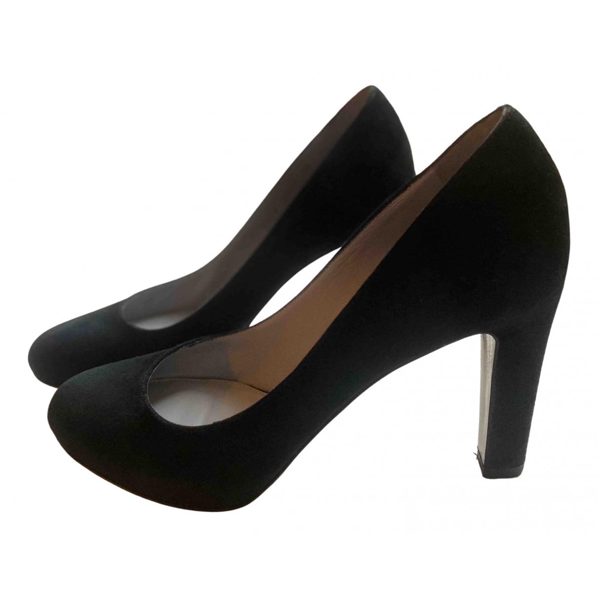 Sergio Rossi N Black Suede Heels for Women 36 EU