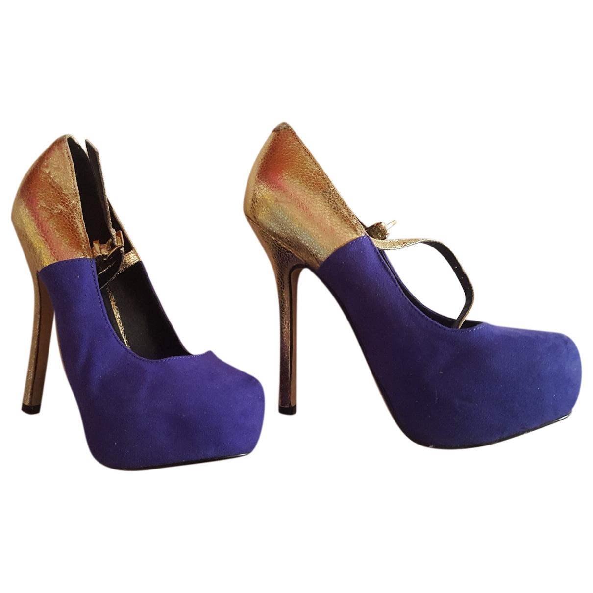 Asos - Escarpins   pour femme en cuir - violet