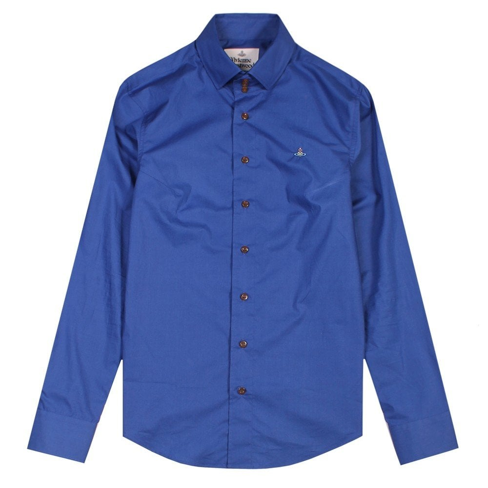 Vivienne Westwood Three Button Shirt Colour: BLUE, Size: SMALL