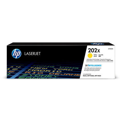 HP 202X CF502X Original Yellow Toner Cartridge High Yield