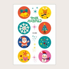 1sheet Christmas Pattern Tattoo