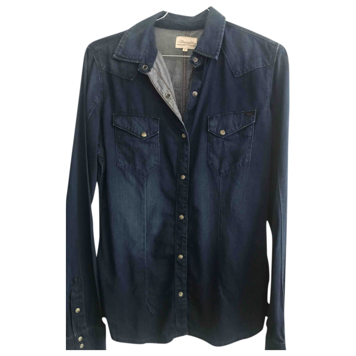 Wrangler - Top   pour femme en coton - bleu
