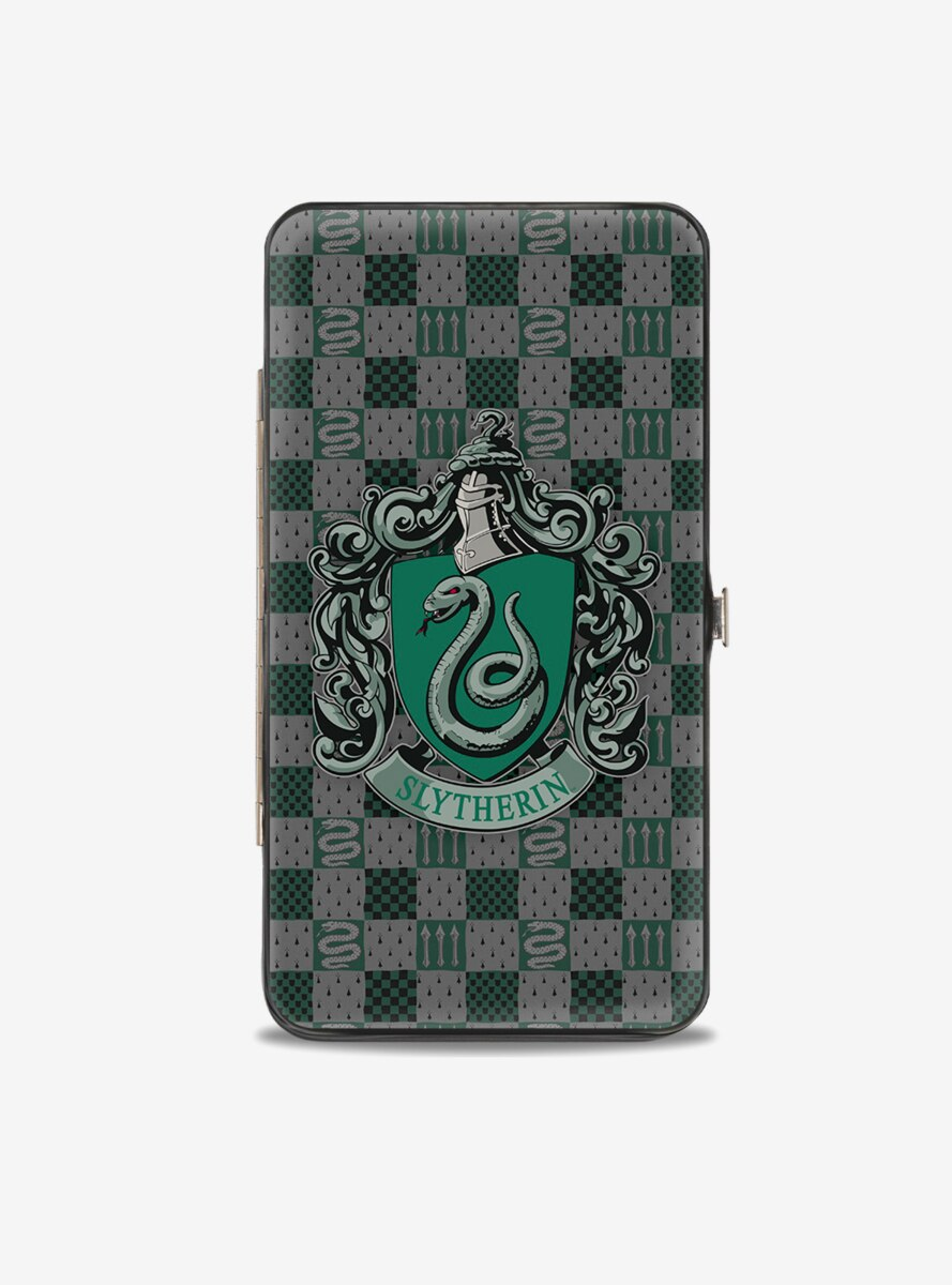 Harry Potter Slytherin Crest Heraldry Checkers Hinged Wallet