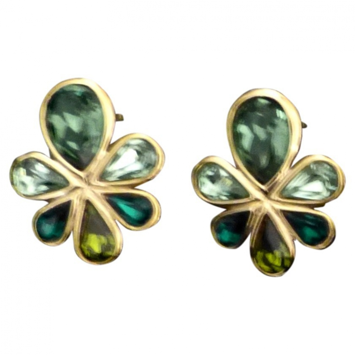 Yves Saint Laurent \N Green Metal Earrings for Women \N