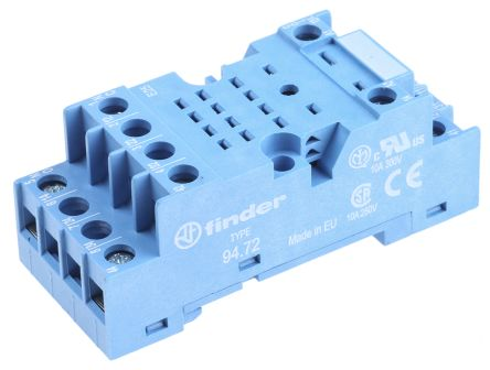 Finder 8 Pin Relay Socket for use with 55.32
