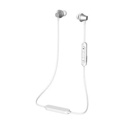 Écouteur Sans-fil sportif Bluetooth avec micro et contrôle du volume - PrimeCables® - Blanc