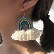 Colorful Tassel Drop Earrings