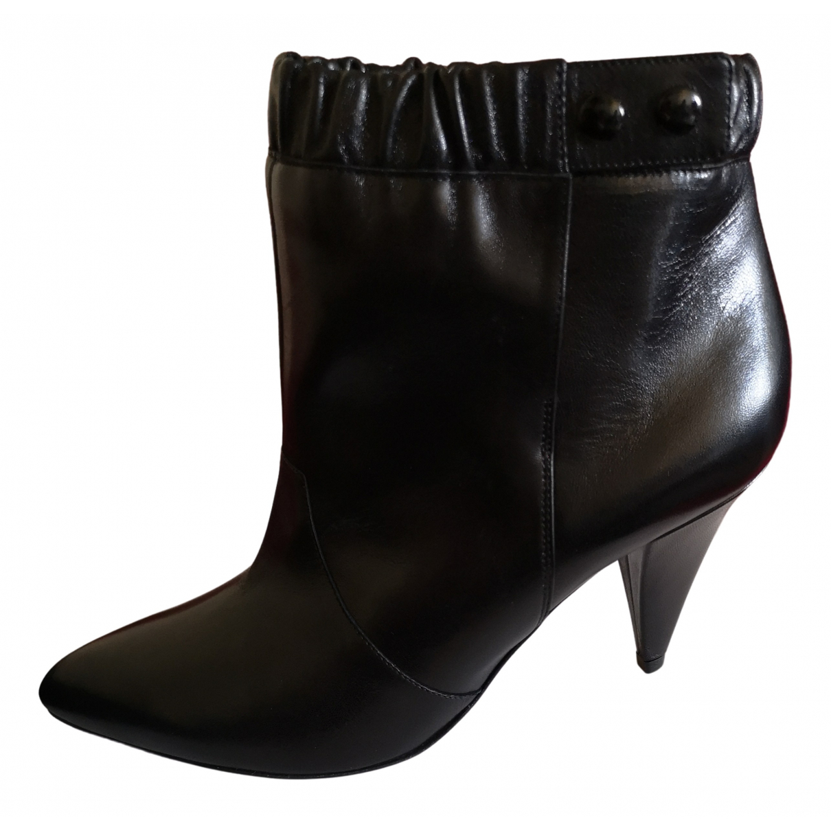 Celine \N Stiefeletten in  Schwarz Leder