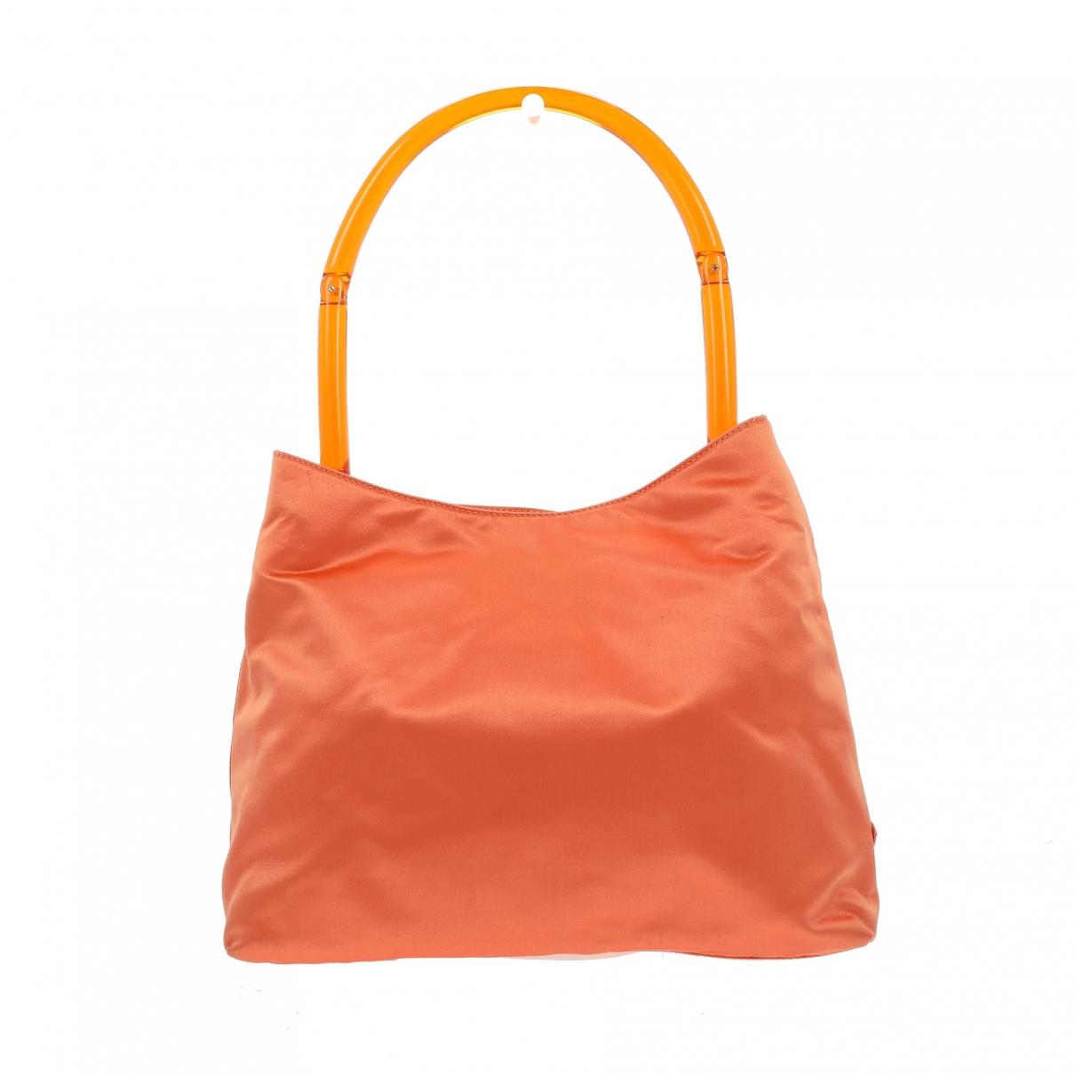 Prada - Sac a main Tessuto  pour femme en toile - orange
