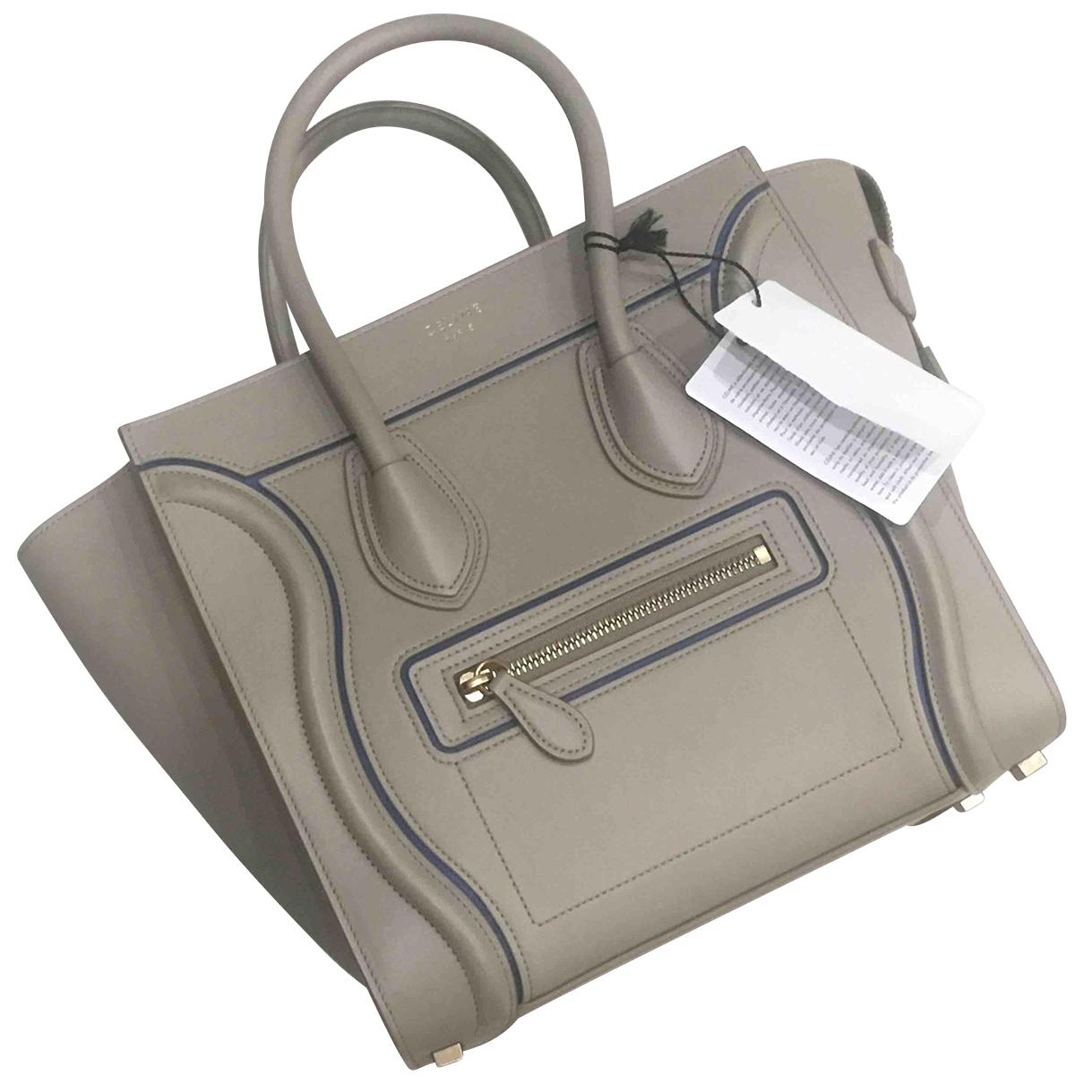 Celine Luggage Handtasche in  Grau Leder