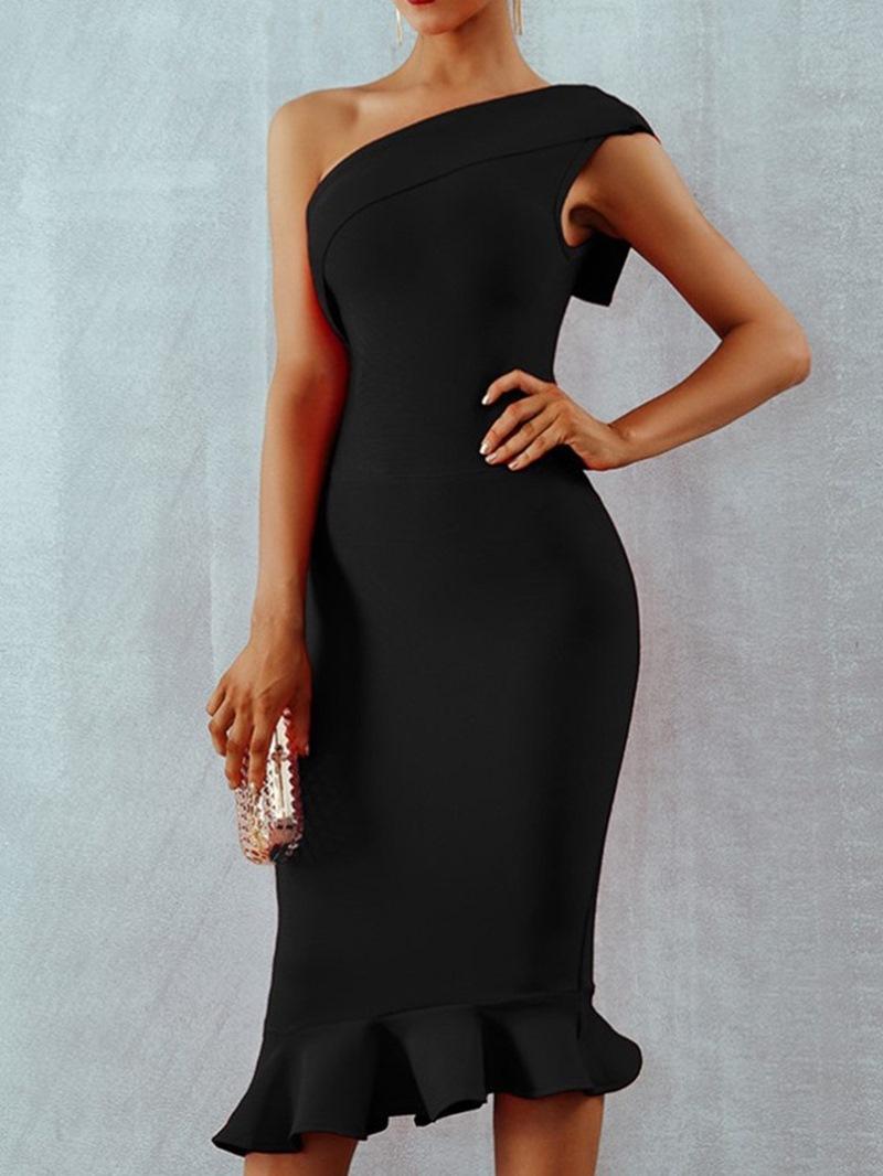 Ericdress Mid-Calf Sleeveless Backless Mid Waist Summer Dress