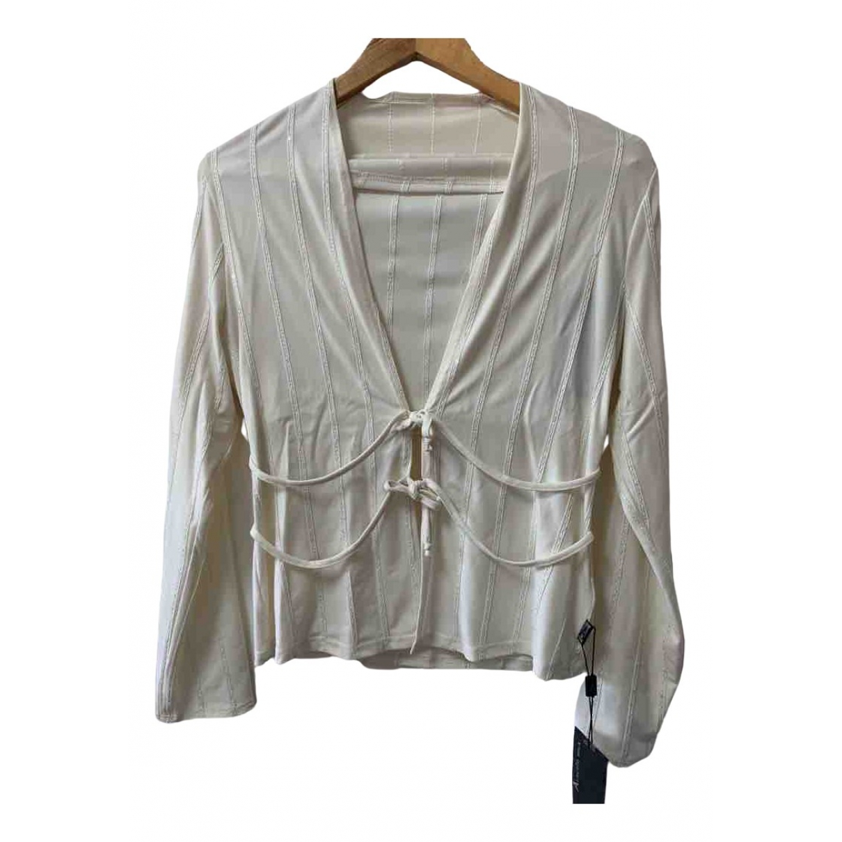 Non Signé / Unsigned Hippie Chic Beige  top for Women 40 FR