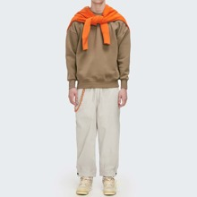 Guys Tie Waist Solid Sweatpants Without Chain