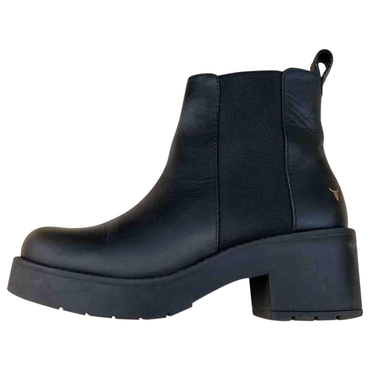 Windsor Smith - Bottes   pour femme en cuir - noir