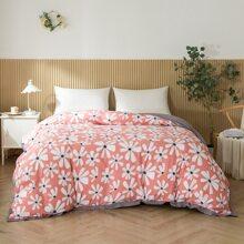 Bettbezug mit Blumen Muster ohne Fuellstoff