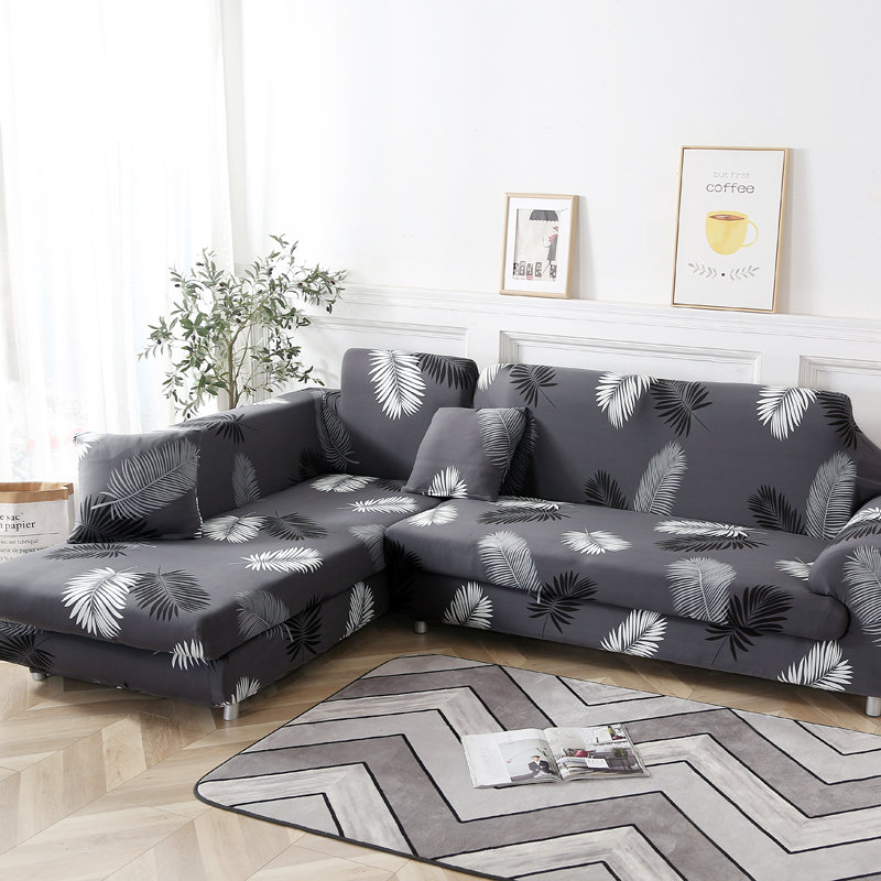 KCASA Elastic Couch Sofa Cover Armchair Slipcovers for Living Room 1/2/3/4 Seat Chair Covers Home