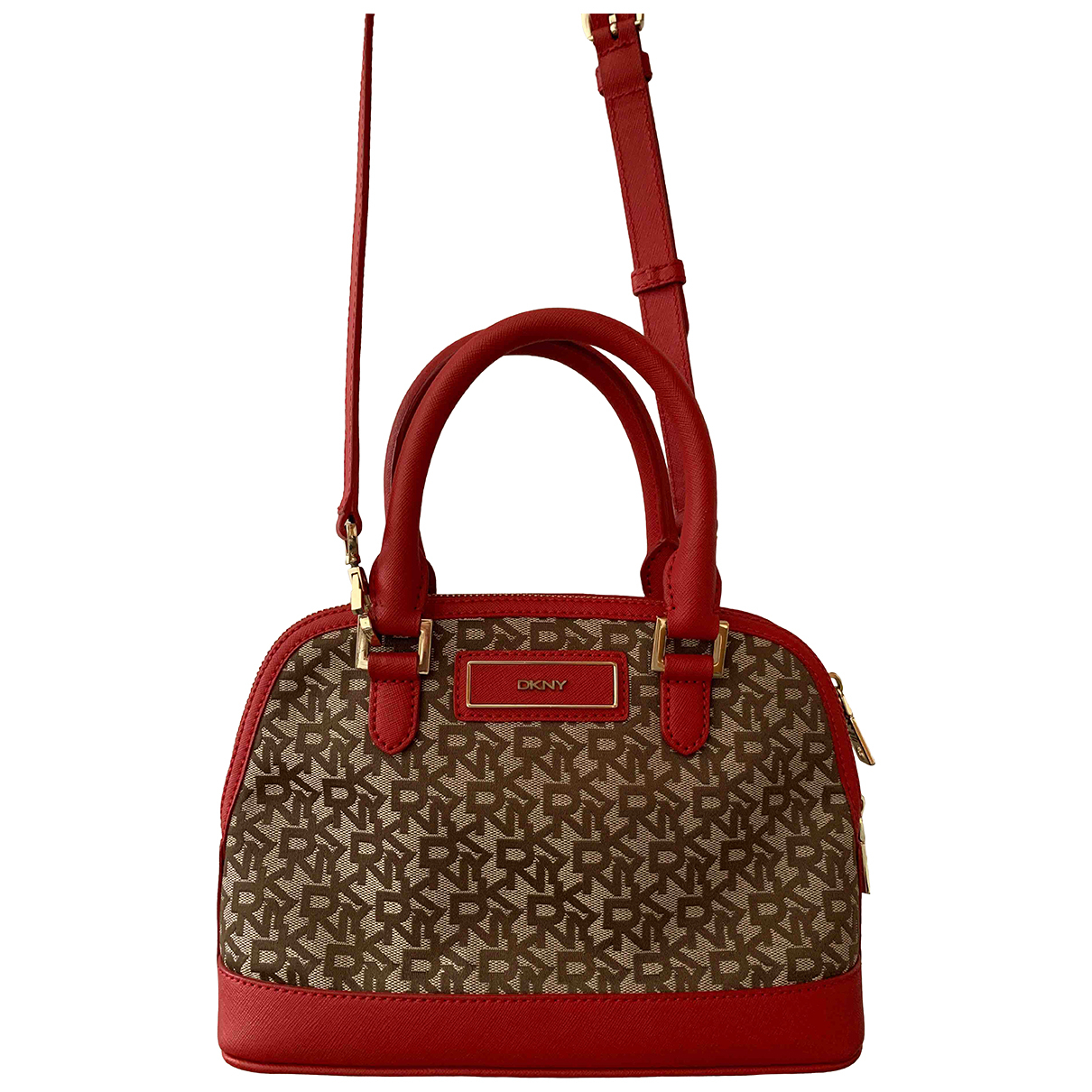 Dkny N Red Fur handbag for Women N