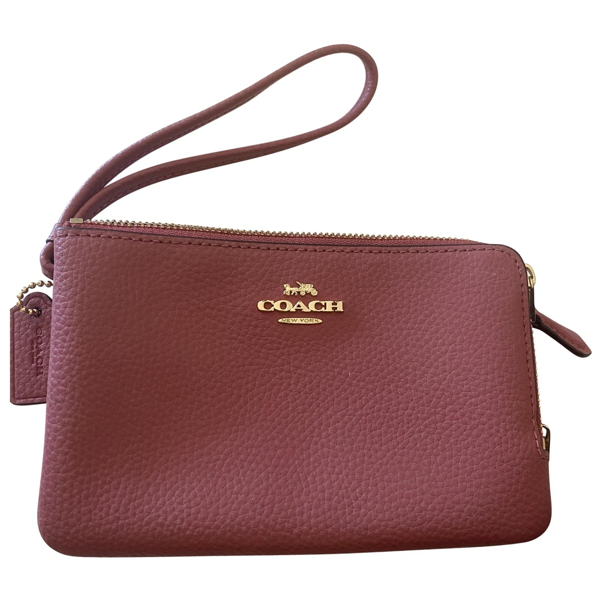 Coach \N Clutch in  Rosa Leder