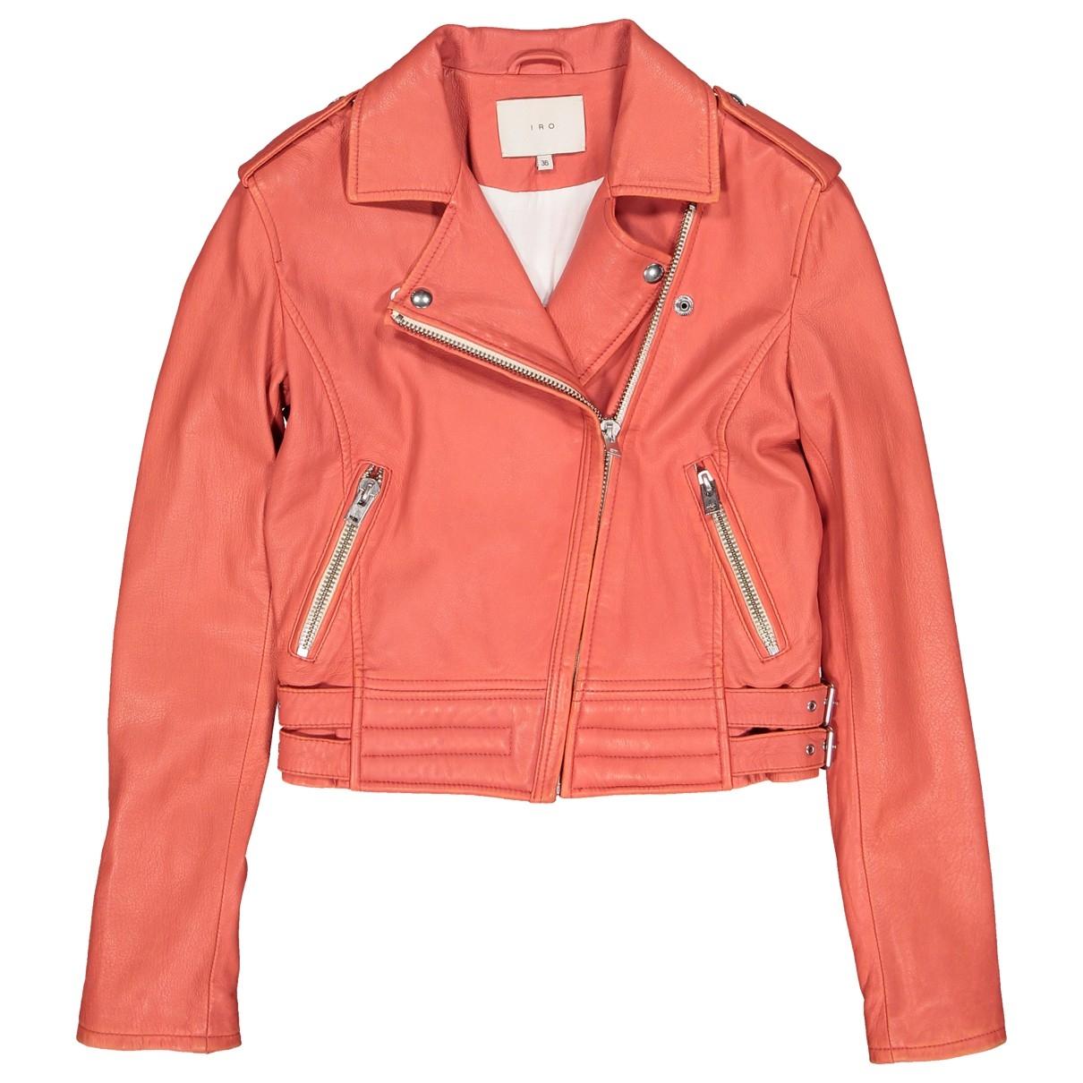 Iro \N Jacke in  Orange Leder