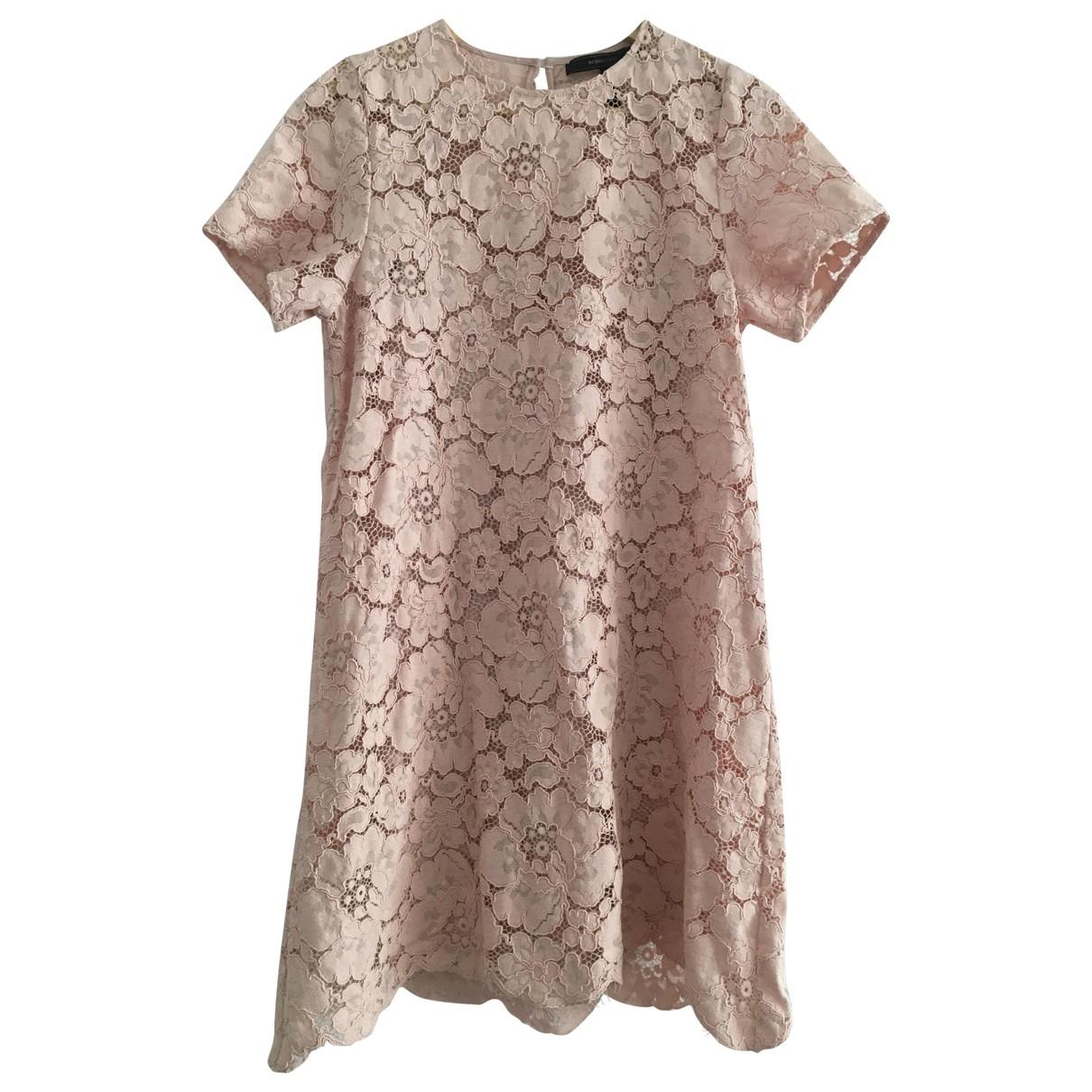Bcbg Max Azria \N Pink Cotton - elasthane dress for Women XS International