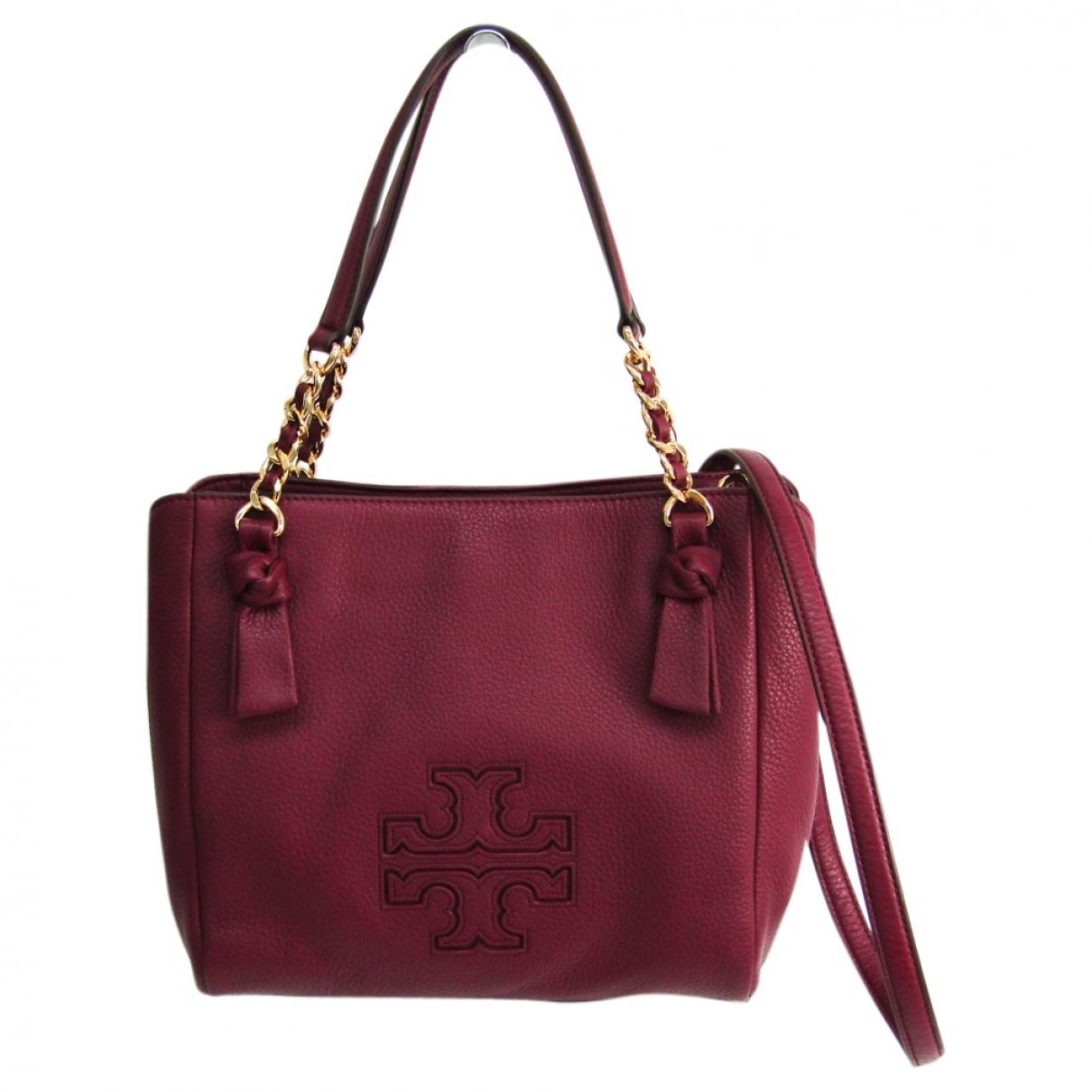 Tory Burch \N Burgundy Leather handbag for Women \N