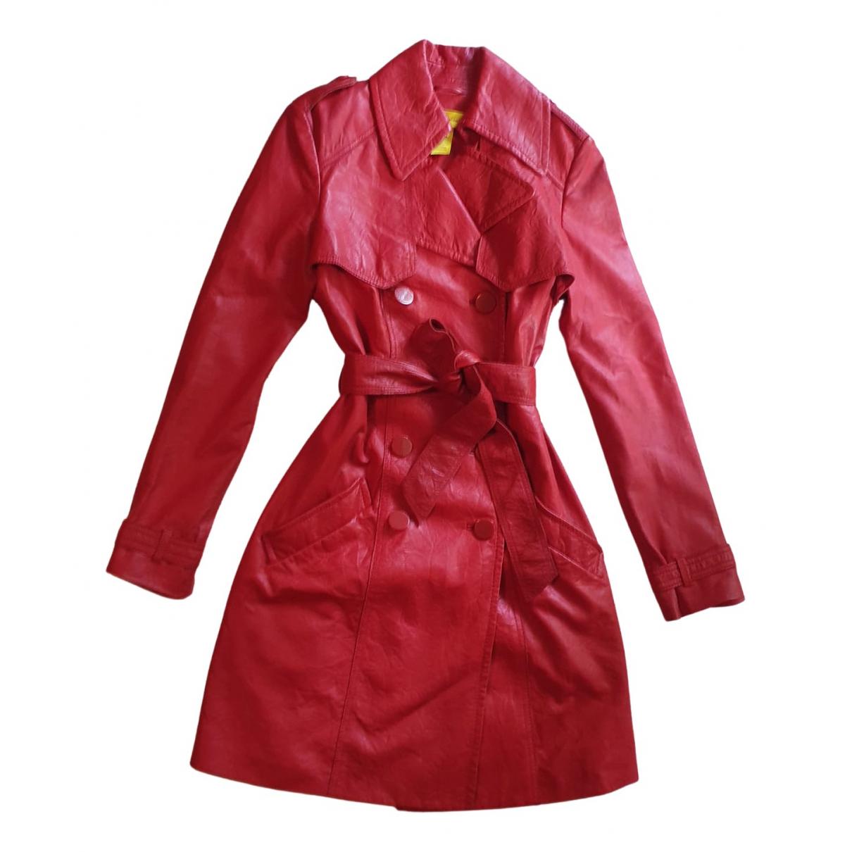 Catherine Malandrino \N Trench in  Rot Leder