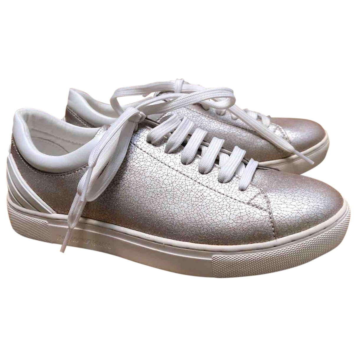 Emporio Armani \N Sneakers in  Silber Polyester