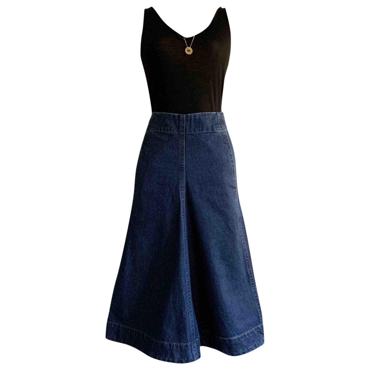 Lemaire N Blue Denim - Jeans skirt for Women 36 FR