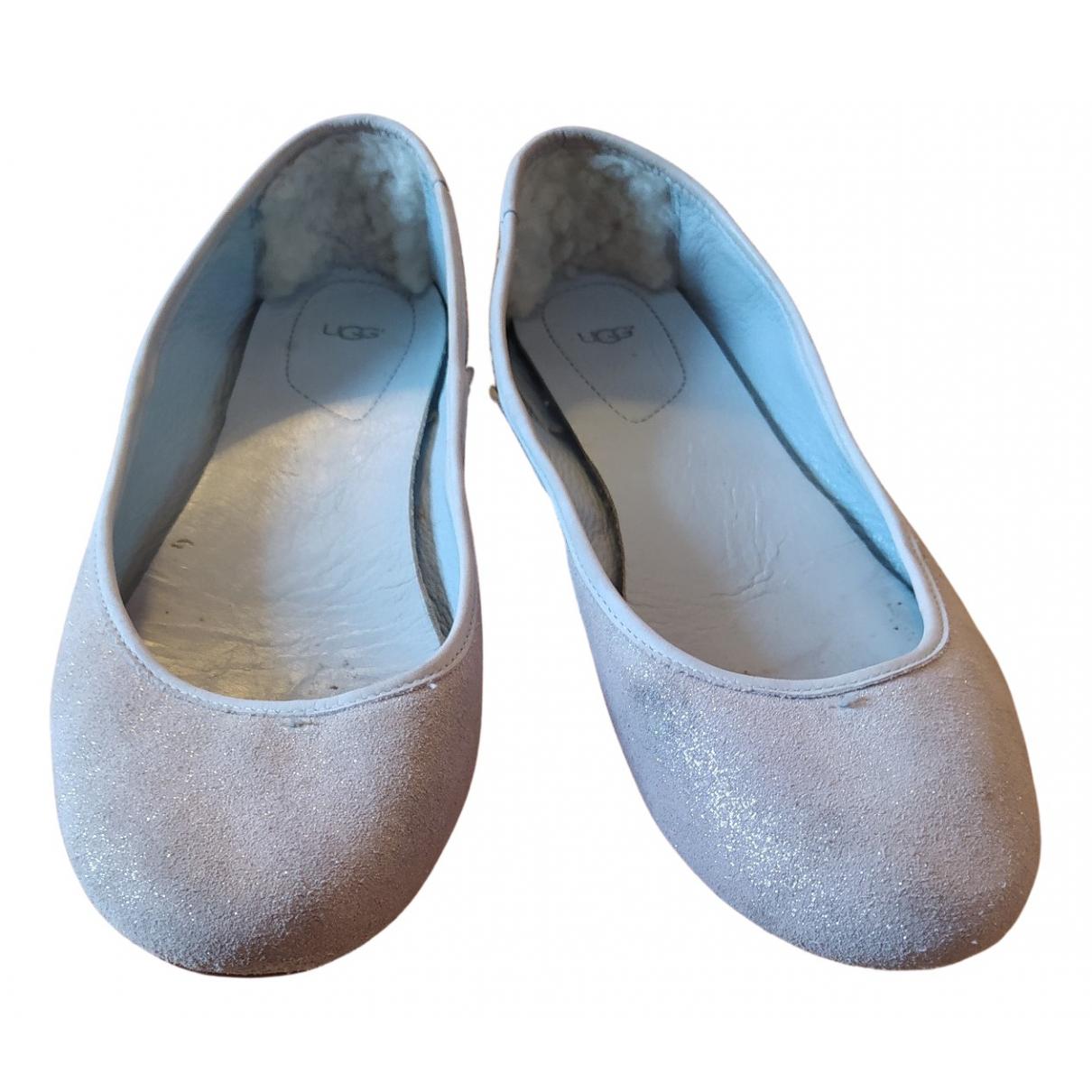 Ugg \N Ballerinas in  Blau Leder