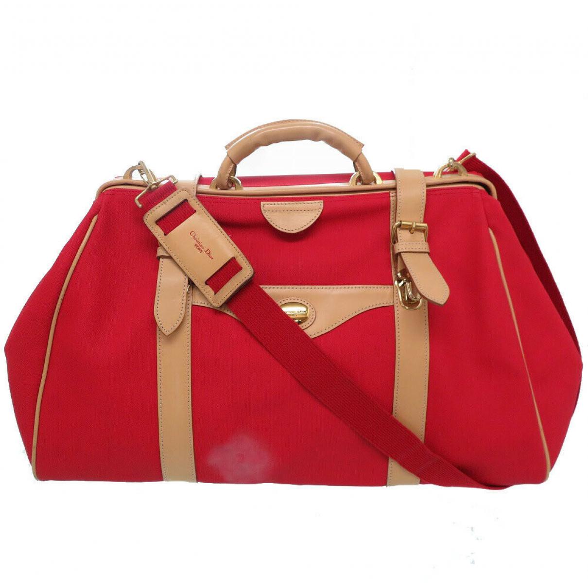 Christian Dior \N Handtasche in  Rot Leder