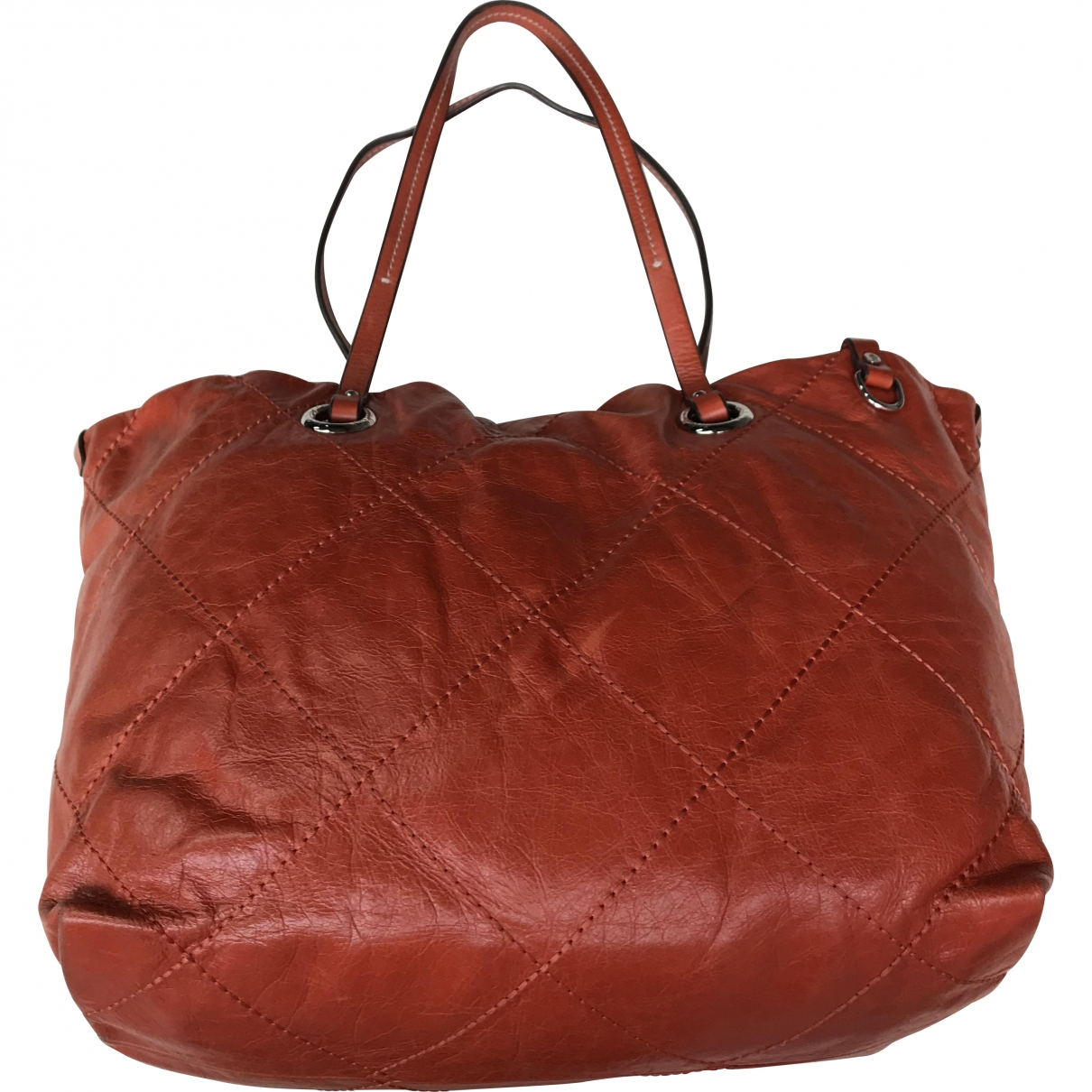 Moncler \N Orange Leather handbag for Women \N