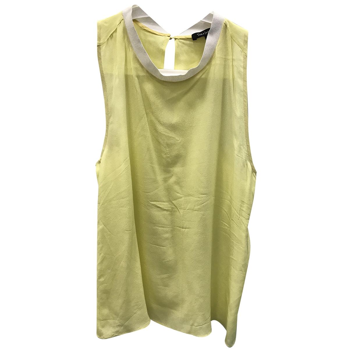 Tara Jarmon \N Yellow Silk  top for Women 38 FR