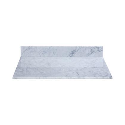 MAVT370WT Stone Top - 37-inch for Vessel Sink  in White Carrara