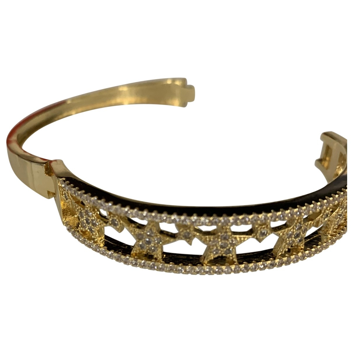 Non Signé / Unsigned Motifs Etoiles Gold Steel bracelet for Women \N