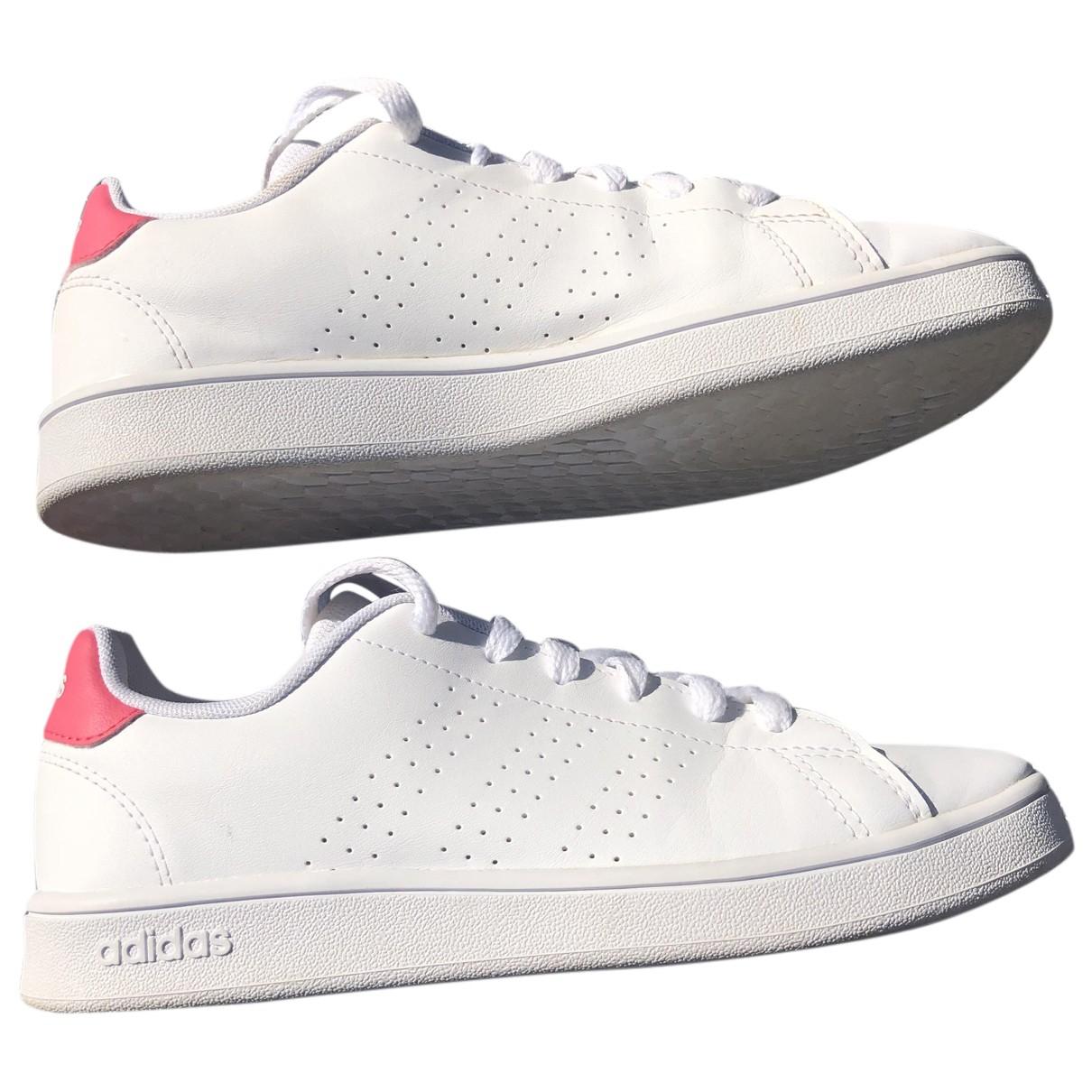 Adidas - Baskets   pour enfant en caoutchouc - blanc