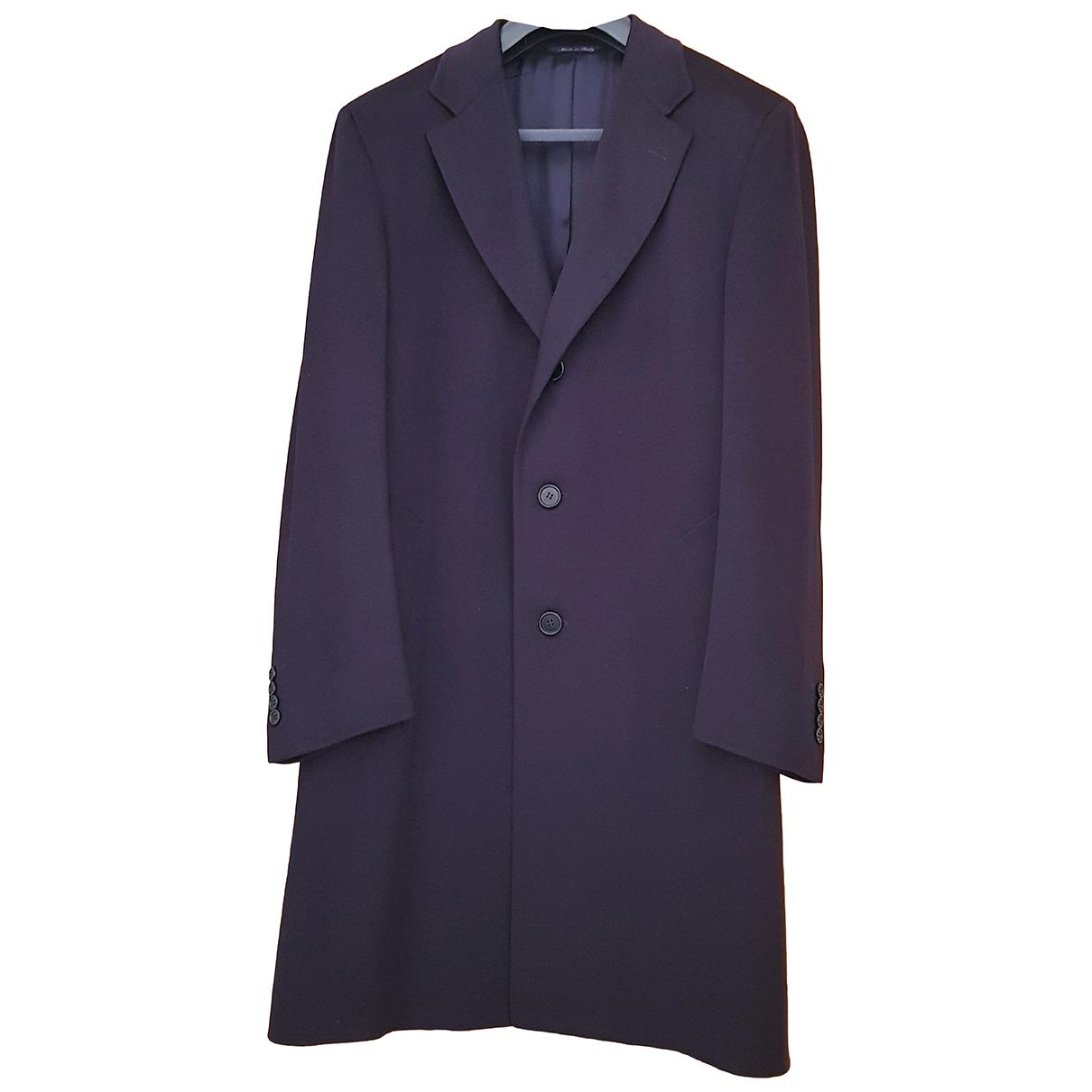 Canali - Manteau   pour homme en laine - bleu