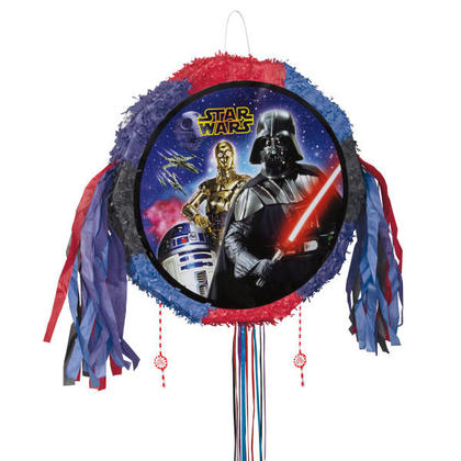 Star Wars 1 Drum Pull Pop-Out Piñata For Birthday Party