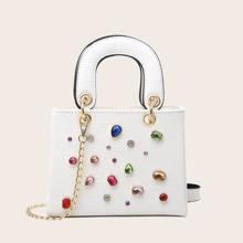 Handtasche mit Edelstein Dekor