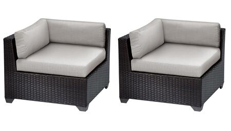 TKC010b-CS-DB-ASH Belle Corner Chair 2 Per Box - Wheat and Ash