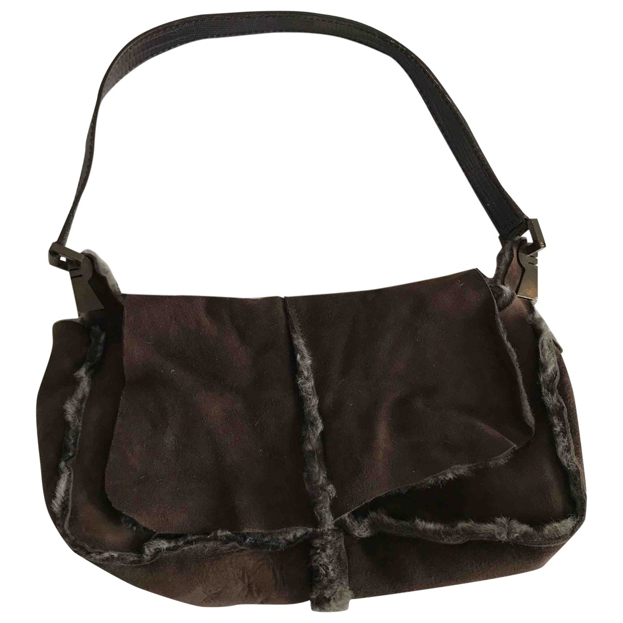 Fratelli Rossetti \N Handtasche in  Braun Veloursleder
