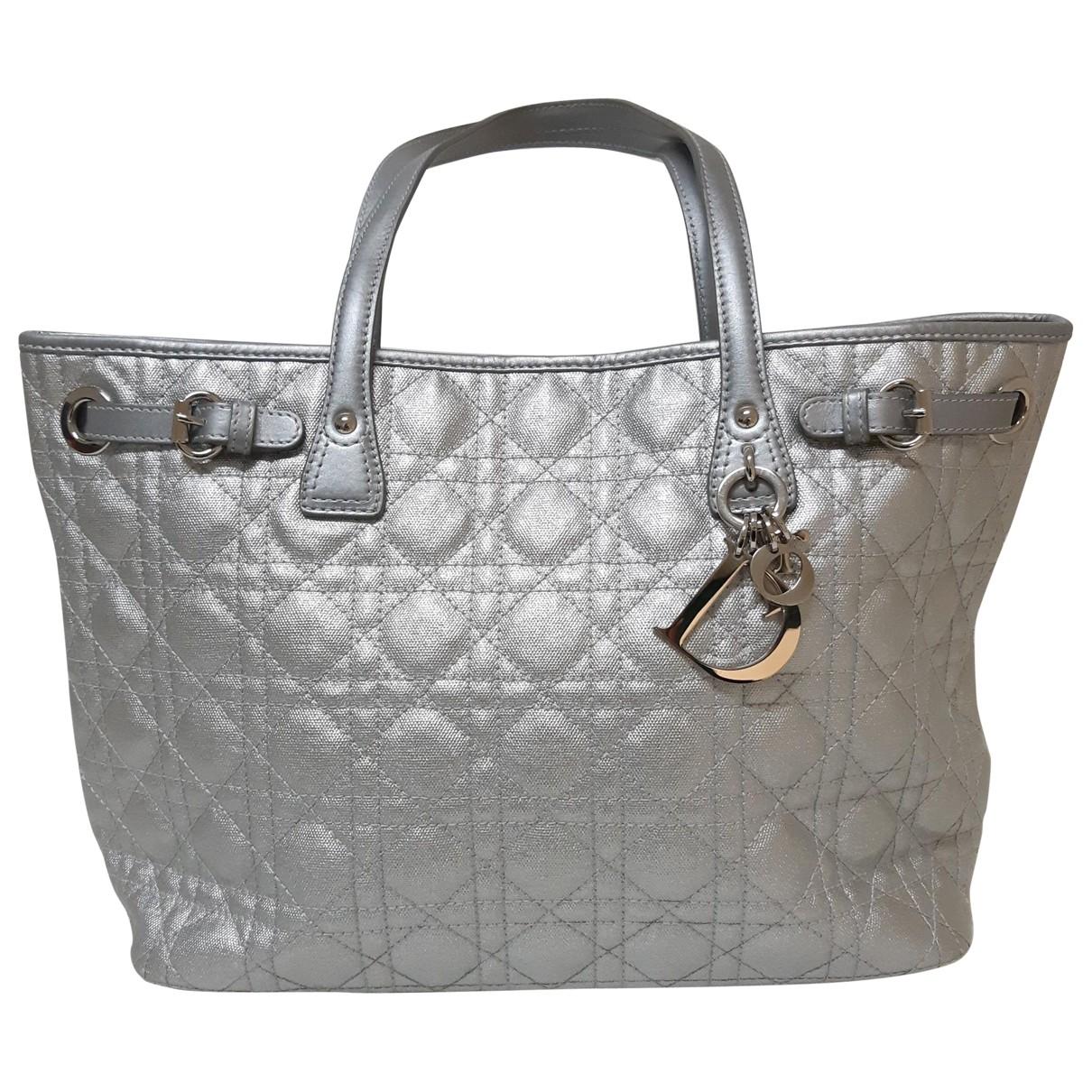 Dior - Sac a main Dior Panarea pour femme en toile - argente